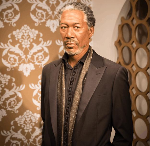 Morgan Freeman at Madame Tussauds