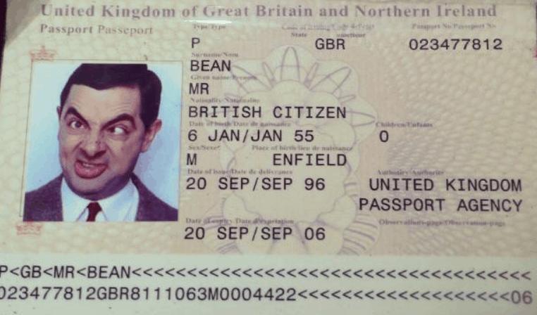 Mr. Beans passport