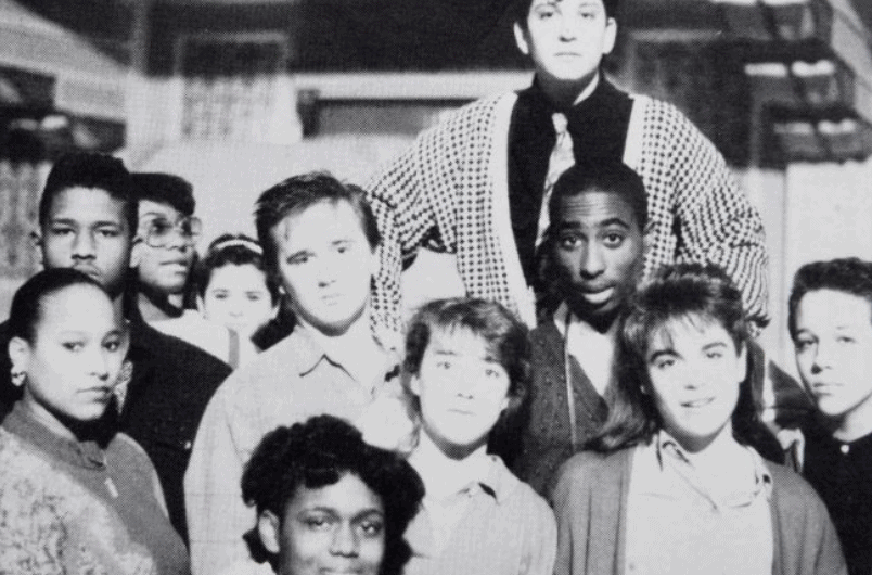 Tupac Shakur in high school