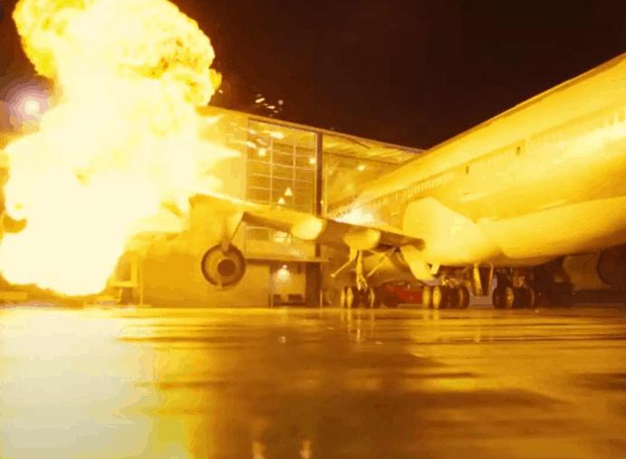 tenet boeing 747 scene real