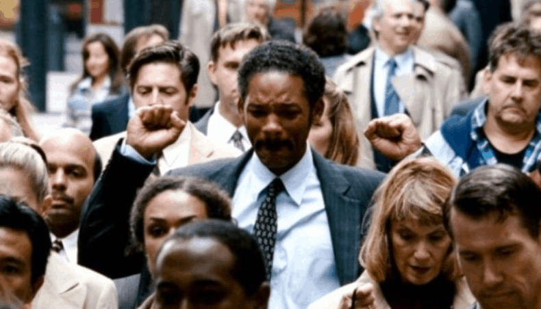 Did the pursuit of happyness win an oscar?