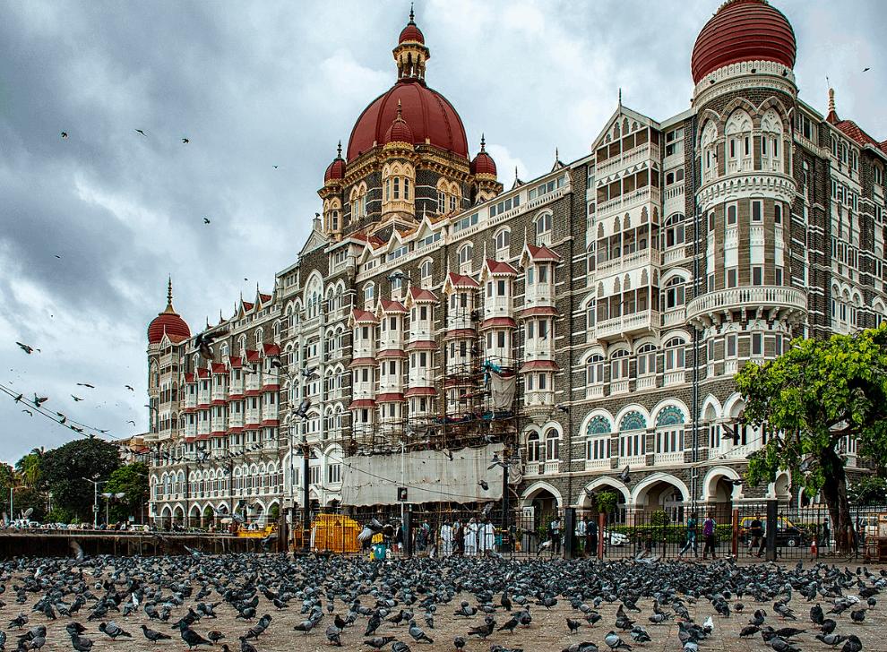 The Taj Mahal Palace Hotel in Mumbai where some scenes of Tenet were shot