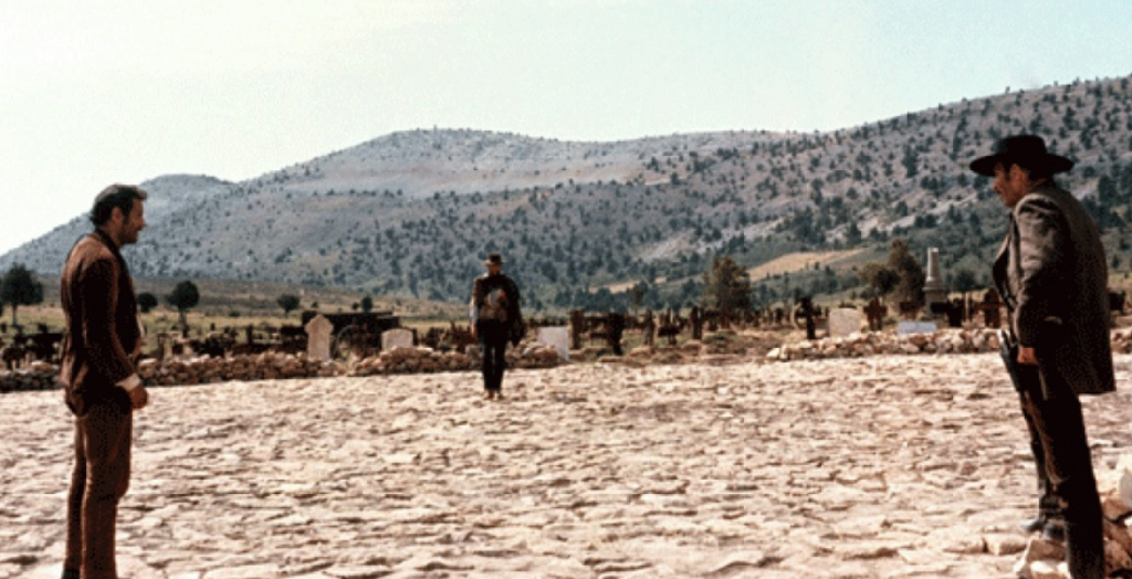 the good the bad and the ugly final standoff