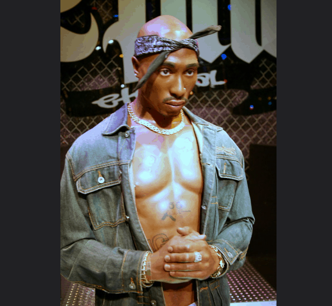 Tupac in madame tussauds